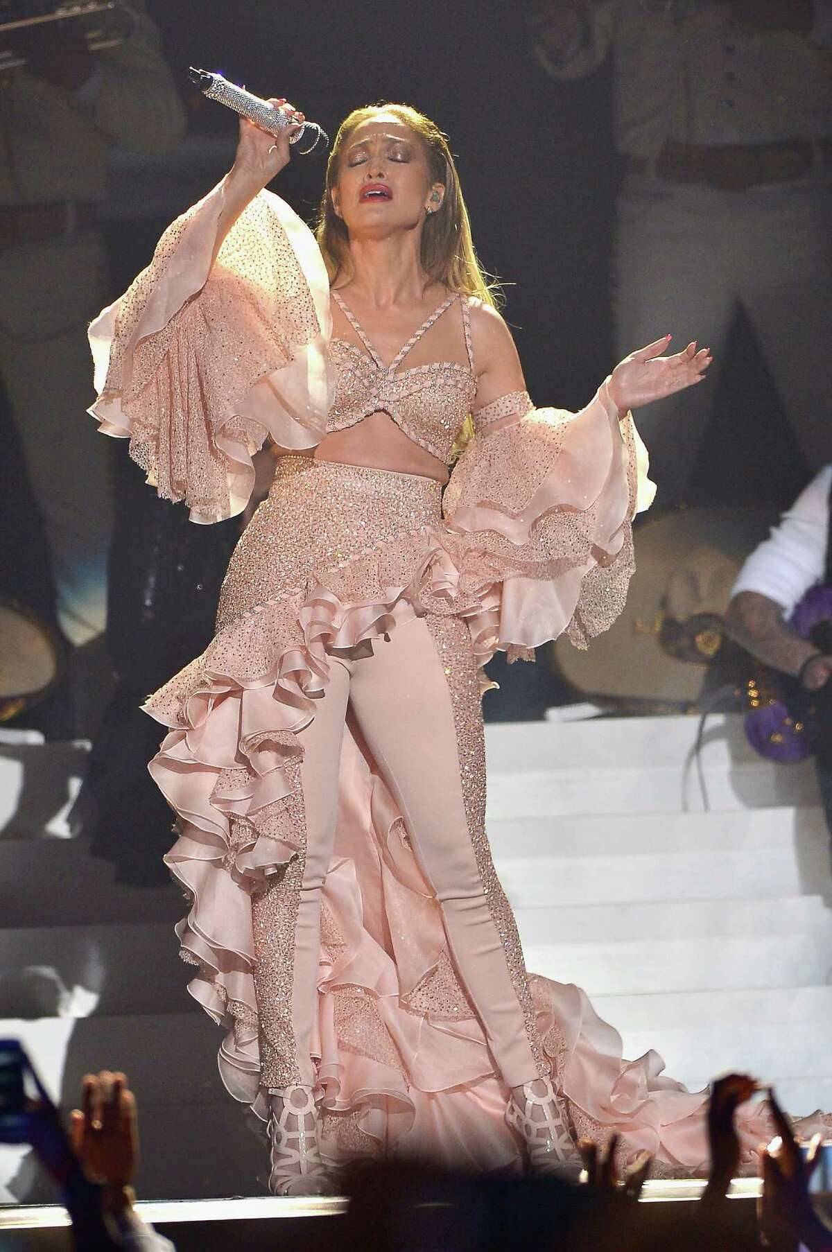 Jennifer Lopez performs musical tribute to Selena performs onstage at the 2015 Billboard Latin Music Awards presented bu State Farm on Telemundo at Bank United Center on April 30, 2015 in Miami, Florida.