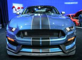 TORONTO, ON - FEBRUARY 15: SPORTS CAR FEATURE-  Thein the Ford exhibit  on the 800 levels in the south building at the 2015 edition of the Canadian International AutoShow (CIAS) in Toronto.        (David Cooper/Toronto Star via Getty Images)