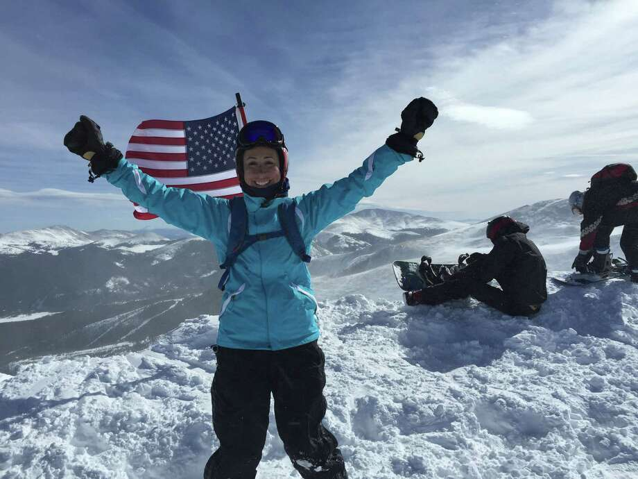 Valerie Wilson was triumphant when she returned to skiing at Breckenridge Ski Resort in Colorado this winter after a long battle with Lyme disease. (Photo provided by Valerie Wilson)