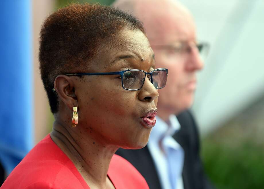 UN's Under Secretary General for Humanitarian Affairs and emergency Relief Coordinator Valerie Amos addresses the media at UN headquarters in Kathmandu on May 1, 2015, following a 7.8 magnitude earthquake which struck the Himalayan nation on April 25. Desperate survivors living at ground zero of Nepal's earthquake felt abandoned to their fate after losing their loved ones and livelihoods in a disaster that has claimed more than 6,300 lives. Photo: Prakash Singh, AFP / Getty Images