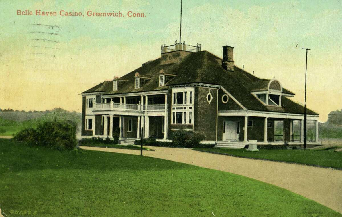 This postcard, from the Greenwich Historical Society's postcard collection shows the Belle Haven Casino, today known as the Belle Haven Club.