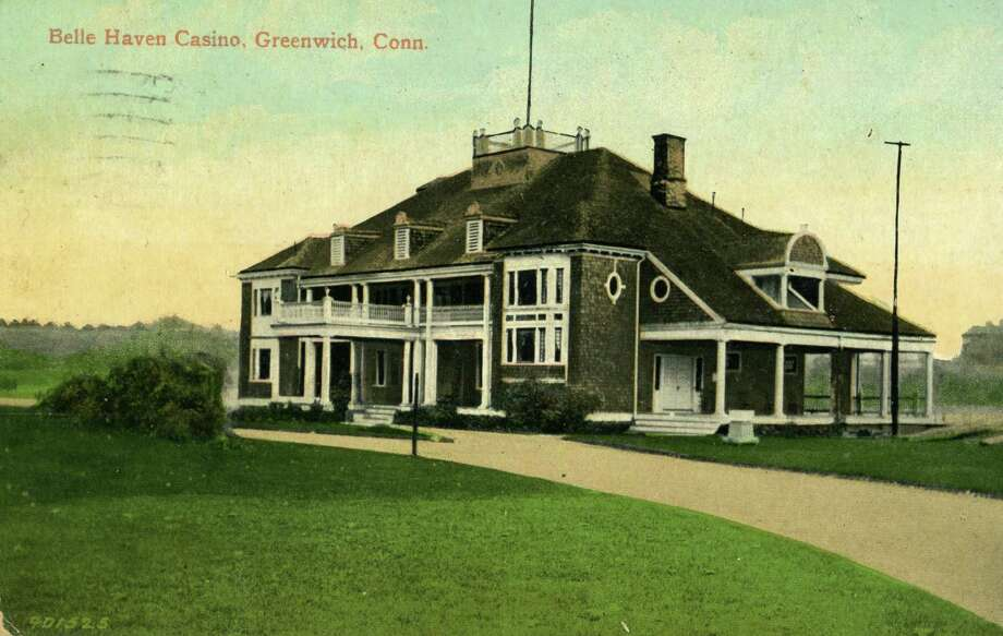 This postcard, from the Greenwich Historical Society's postcard collection shows the Belle Haven Casino, today known as the Belle Haven Club. Photo: Contributed Photo / Greenwich Time Contributed