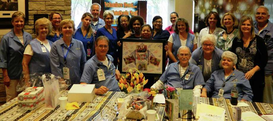 Volunteers at Memorial Hermann Katy Hospital are honored for their service to the hospital. Photo: Memorial Hermann Katy Hospital