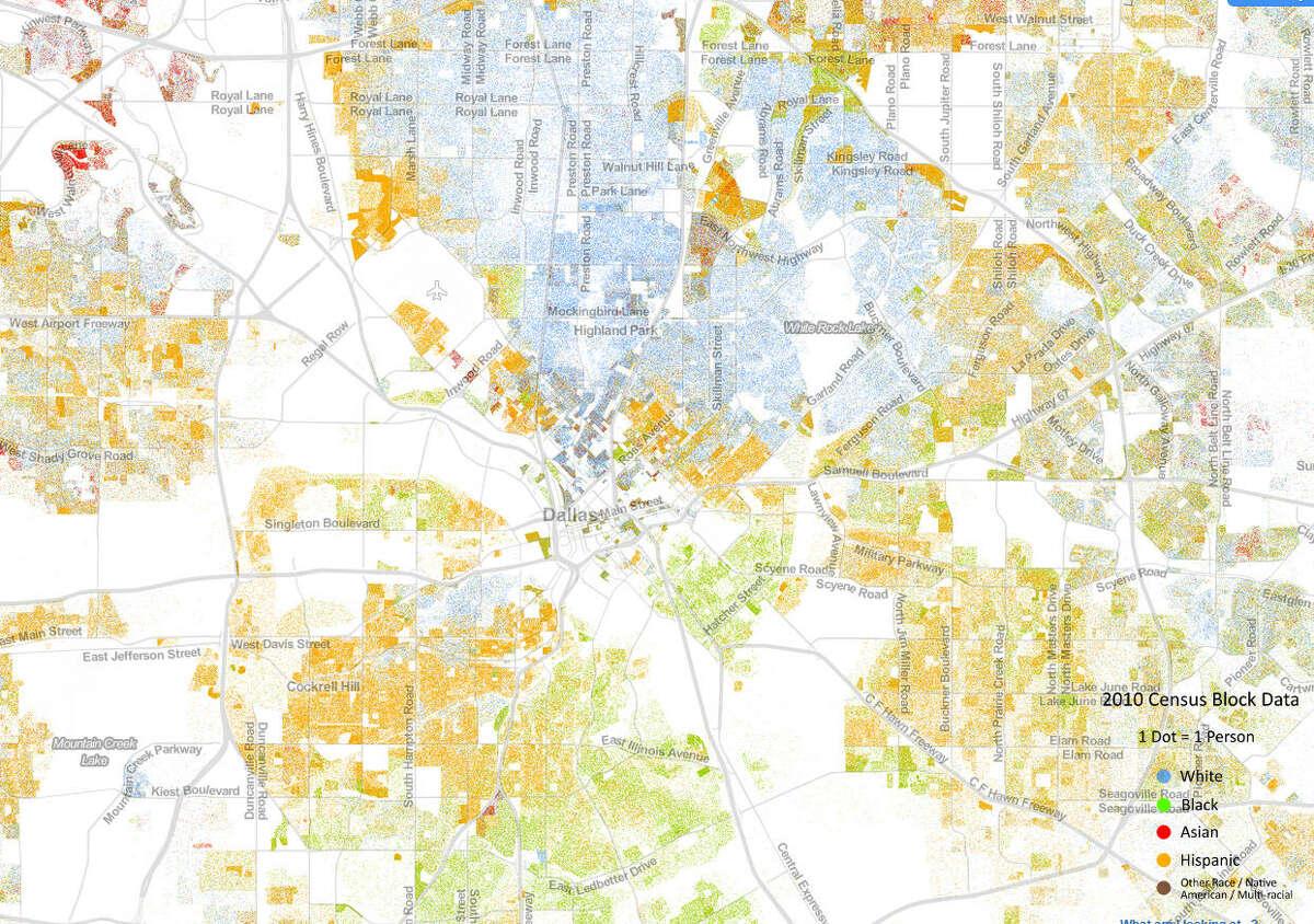 Dallas Population: 1,257,676 Integration/Segregation Index: -7.0 percent Neighborhood diversity index: 45.3 percent Citywide diversity index: 67.4 percent