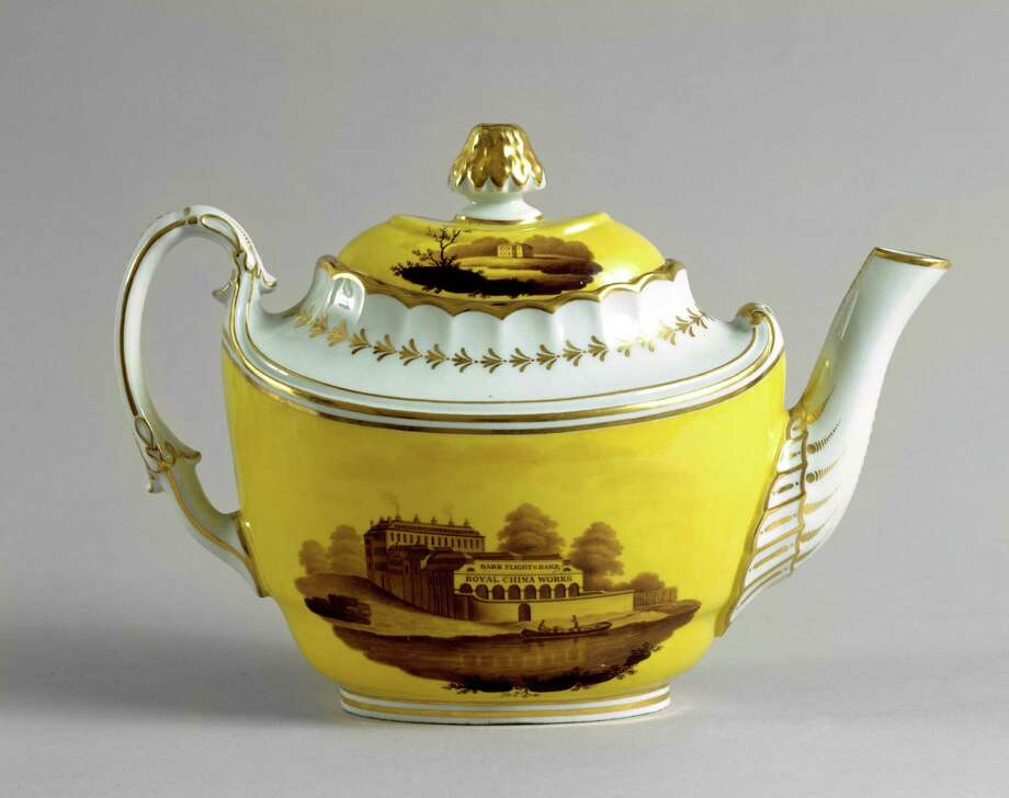 "Teapots from the 18th and early 19th century are included in ""Pablo Bronstein: We Live in Mannerist Times"" at the Museum of Fine Arts, Houston. Photo: The Rienzi Collection"