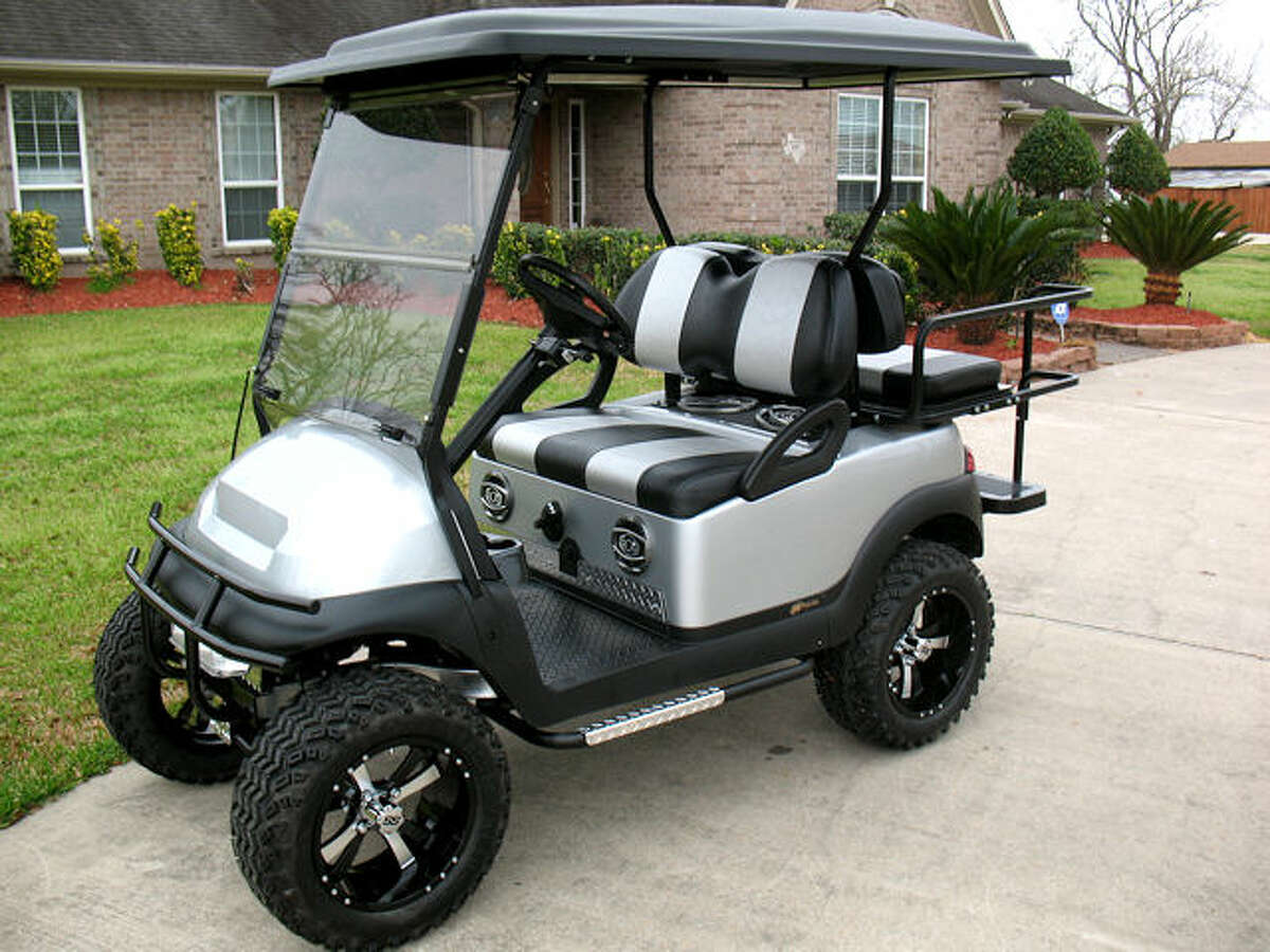 A file photo of a golf cart. A San Jose woman died after being flung from a cart and landing on wine glasses.
