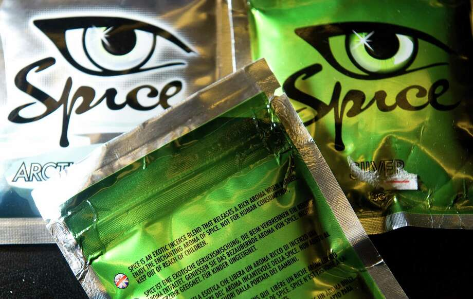 """A selection of the """"Spice"""" legal stimulants is pictured in a shop in north London. Spice is made using synthetic chemicals and herbs. It has been linked to mood swings and paranoia. Photo: LEON NEAL,  Leon Neal/AFP/Getty Images / 2009 AFP  Leon Neal/AFP/Getty Images"""