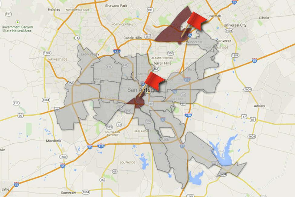 ZIP code: 78217, 78204 Population under 18: 6,937 (78217), 2,670 (78204) Rate of probation per 1000 kids: 15.7