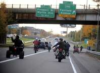 Dozens of riders on ATVs, dirtbikes and street bikes wreaked havoc across Bridgeport Saturday, Nov. 8, 2014 while evading cops and speeding through city streets. City officials are counting on tougher local laws and steeper fines to help police crack down on what has become a summertime hazard in Bridgeport and other urban areas where private or public land set aside for riding is scarce to nonexistent.