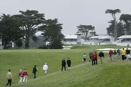 A view of the 14th hole during the third round of the PGA Match Play Championship at Harding Park in San Francisco, Calif., on Fri. May 1, 2015.