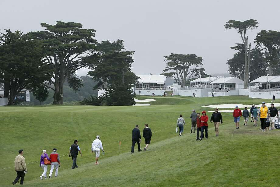 A view of the 14th hole during the third round of the PGA Match Play Championship at Harding Park in San Francisco, Calif., on Fri. May 1, 2015. Photo: Michael Macor, The Chronicle