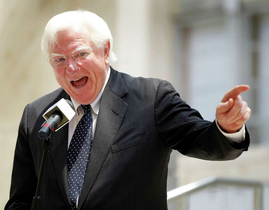 Former Governor of Texas Mark White speaks during ceremonies at Baylor College of Medicine for the Cullen Building being dedicated as a Texas Historic Landmark on Friday, May 1, 2015, in Houston. White passed away Saturday in Houston; he was 77. Photo: Karen Warren, Houston Chronicle / © 2015 Houston Chronicle