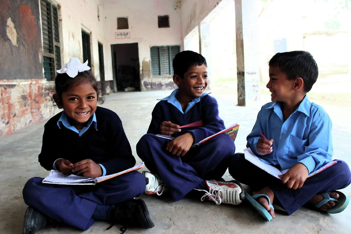 Pratha students in Jallabad, in the Indian state of Punjab.