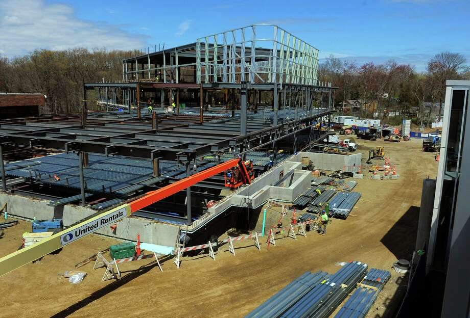 Construction continues on Bridgeport Hospital's outpatient campus on Park Avenue in Bridgeport, Conn., on Friday May 1, 2015. Photo: Christian Abraham / Connecticut Post