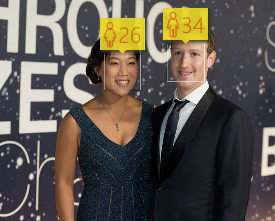 Microsoft's #HowOldRobot overestimated Mark Zuckerberg's age -- he's about to turn 31 -- but underestimated wife Priscilla's years. Like Zuck, she's 30. Photo: SFGate
