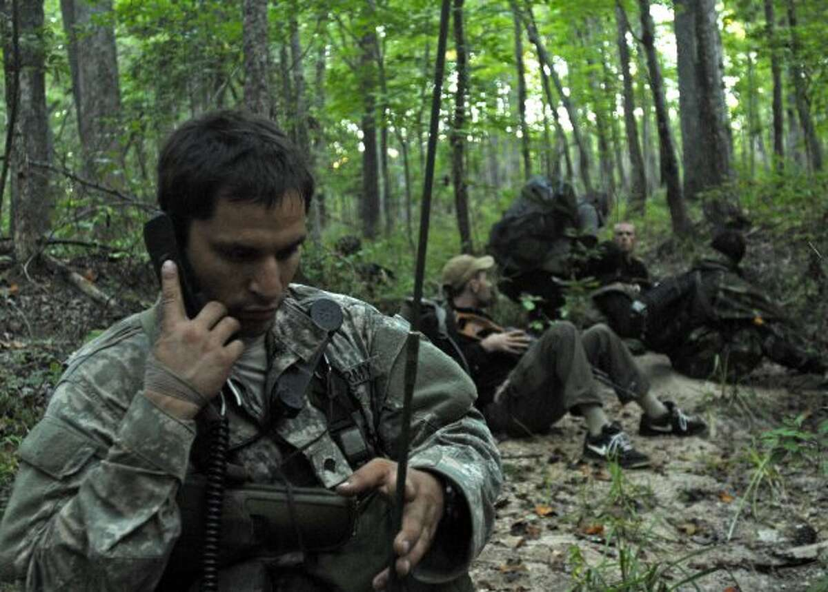 A Special Forces candidate during the final test before being awarded the coveted Green Beret.