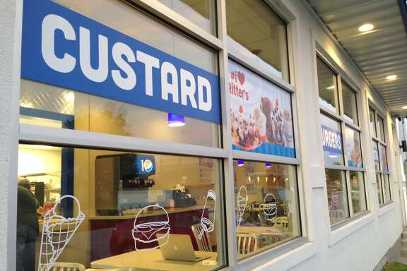 The new Ritter's Frozen Custard locations such as the one on South Dairy Ashford have indoor seating. The original concept focused on frozen treats where customers ordered at a walk-up window. That is the format at the location on Fry Road in Katy.