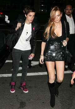 TOKYO - OCTOBER 22:  Actress Lindsay Lohan (R) and DJ Samantha Ronson (L) arrive at the Charlotte Ronson after party at Le Baron on October 21, 2008 in Tokyo.  (Photo by Junko Kimura/Getty Images for Charlotte Ronson) Photo: Junko Kimura, Getty Images For Charlotte Ronso / 2008 Getty Images