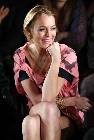 TOKYO - OCTOBER 22:  Actress Lindsay Lohan at the front row of the Charlotte Ronson Spring/Summer 2009 Fashion Show at the National Stadium on October 22, 2008 in Tokyo.  (Photo by Junko Kimura/Getty Images for Charlotte Ronson) Photo: Junko Kimura, Getty Images For Charlotte Ronso / 2008 Getty Images