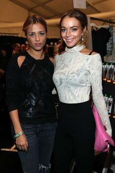 NEW YORK - FEBRUARY 13:  Designer Charlotte Ronson (L) and actress Lindsay Lohan pose backstage at the Charlotte Ronson Falll 2009 fashion show during Mercedes-Benz Fashion Week at The Salon in Bryant Park on February 13, 2009 in New York City.  (Photo by Astrid Stawiarz/Getty Images for IMG) *** Local Caption *** Lindsay Lohan;Charlotte Ronson Photo: Astrid Stawiarz, Getty Images For IMG / 2009 Getty Images