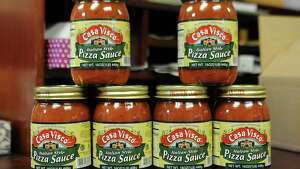Jars of Casa Visco pizza sauce are seen in an office at the Casa Visco plant on Tuesday, April 28, 2015 in Schenectady, N.Y.  (Lori Van Buren / Times Union)