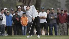 Rory McIlroy tees off the sixth hole during the fourth round matches of the PGA Match Play Championship at Harding Park in San Francisco, Calif., on Sat. May 2, 2015.