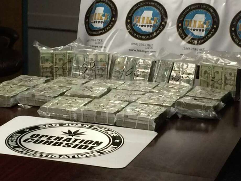 In April, San Juan police seized nearly $800,000 from a Mexican man headed to Mexico to pay off a drug cartel. The money was found in a hidden compartment of his truck. Photo: Courtesy, San Juan Police