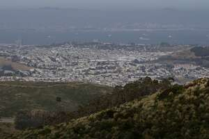 The view of Brisbane as seen from at San Bruno Mountain State and County Park in Brisbane, Calif. Saturday, May 2, 2015.