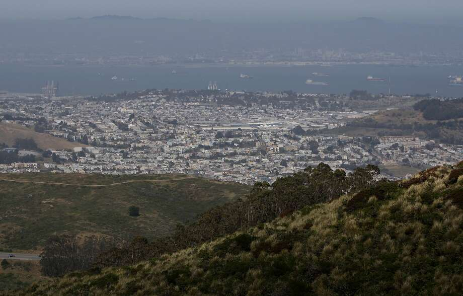 The view of Brisbane as seen from at San Bruno Mountain State and County Park in Brisbane, Calif. Saturday, May 2, 2015. Photo: Jessica Christian, The Chronicle