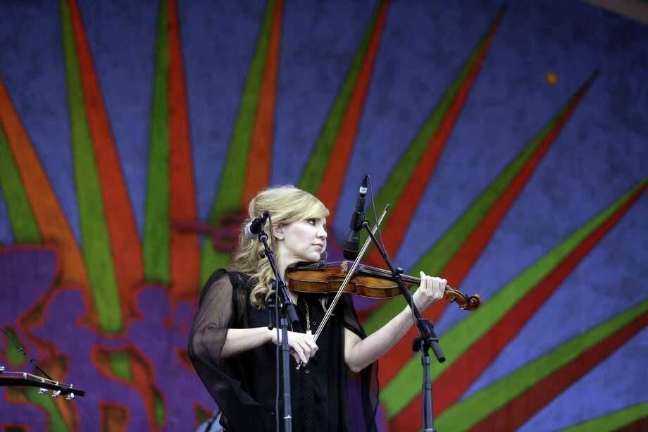 Alison Krauss & Union Station perform at the New Orleans Jazz and Heritage Festival in New Orleans, Thursday, April 30, 2015. Photo: Gerald Herbert, Associated Press / AP