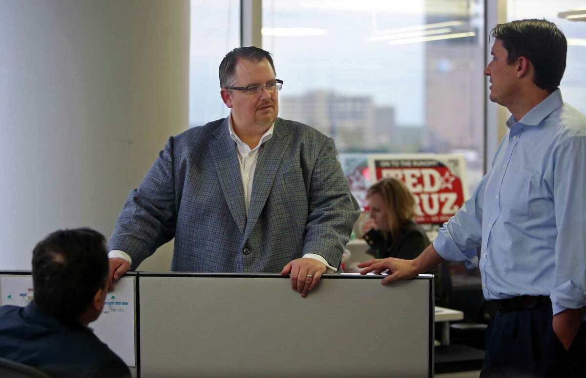 Sen. Ted Cruz employed Jeff Roe, center, as his campaign manager for his presidential run.