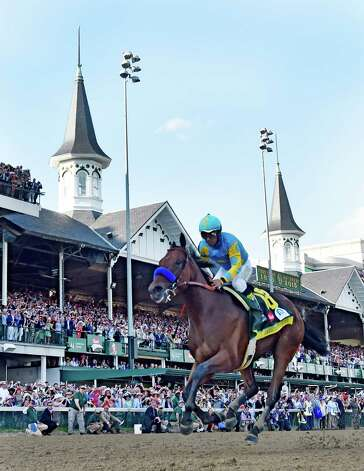American Pharaoh with jockey Victor Espinoza in the irons wins the 141st Kentucky Derby May 2, 2015 at Churchill Downs in Louisville, Kentucky.      (Skip Dickstein/Times Union) Photo: SKIP DICKSTEIN
