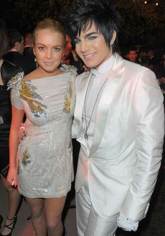 LOS ANGELES, CA - JANUARY 16:  Actress Lindsay Lohan and singer Adam Lambert attend The Art of Elysium's 3rd Annual Black Tie Charity Gala 'Heaven' on January 16, 2010 in Beverly Hills, California. (Photo by Jason Merritt/Getty Images) *** Local Caption *** Lindsay Lohan;Adam Lambert Photo: Jason Merritt, Getty Images / 2010 Getty Images
