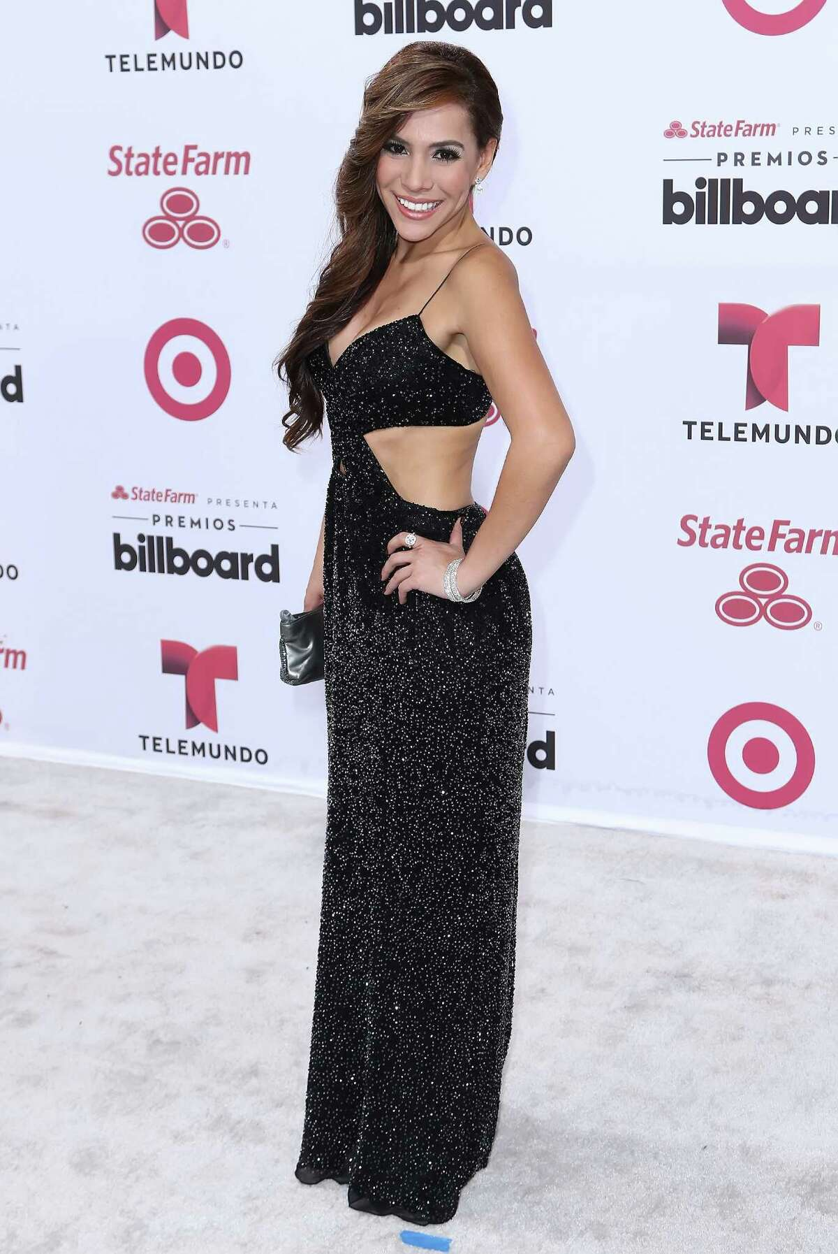 Vela arrives at 2015 Billboard Latin Music Awards presented by State Farm on Telemundo at Bank United Center on April 30, 2015 in Miami, Florida.