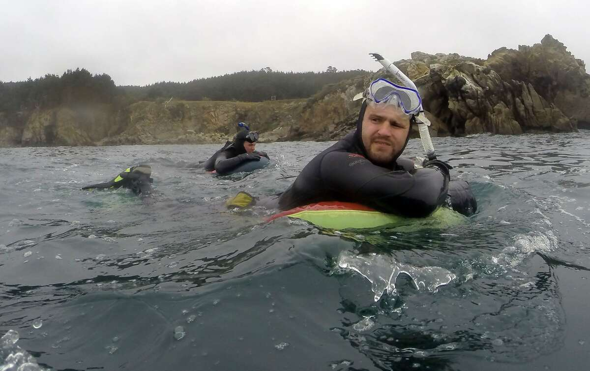 Abalone divers at Salt Point State Park in Sonoma County on May 2, 2015.