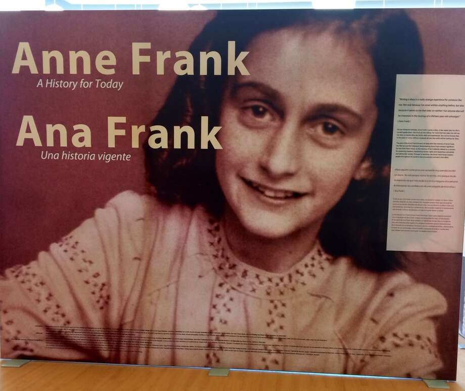 "This year's first and only showing in Texas of ""Anne Frank: A History for Today,"" opened May 1, 2015, at the Anne Frank Inspire Academy in San Antonio. The international exhibit was developed by the Anne Frank House in New York City and sponsored in North America by the Anne Frank Center USA. The exhibit presents the life and times of Anne Frank through her diary, family photographs and documentary. It aims to serve as a foundation for community dialogue about the effects of intolerance in the past and today and provide an opportunity to address the positive values of diversity and tolerance. Photo: Courtesy / Courtesy"