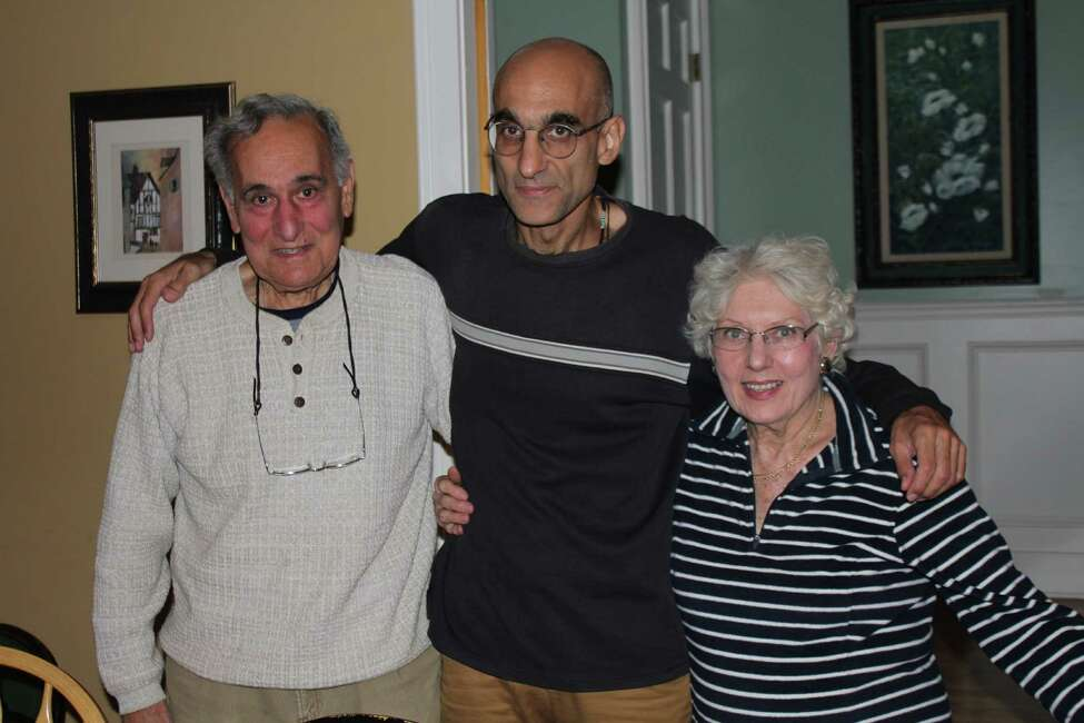 Dr. Tom Catena with his parents, Gene and Nancy, at Thanksgiving.