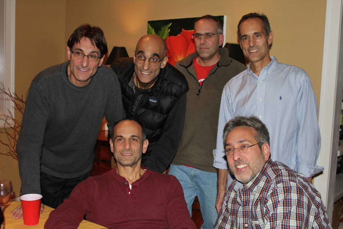 Dr. Tom Catena (back row, second from left) with his brothers at Thanksgiving.