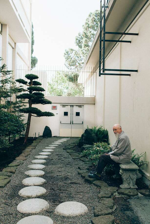 Terry Riley, a pioneer minimalist composer, at the Kabuki hotel, San Francisco, Calif., May 1, 2015. Photo: Peter Earl McCollough, Special To The Chronicle