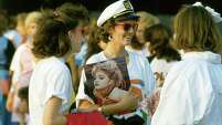 Madonna fans outside Hofheinz Pavilion, May 4, 1985.