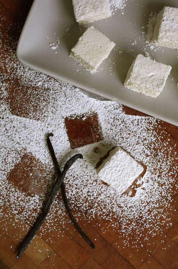 Amy Machnak tweaks a recipe from Tout Sweet's Yigit Pura for do-it-yourself marshmallows. Photo: Liz Hafalia / The Chronicle / ONLINE_YES