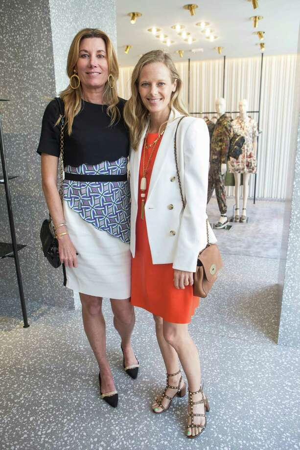 Susan Dunlevy and Katie Traina at the Valentino lunch benefiting the California Pacific Medical Center on April 28, 2015. Photo: Jana Asenbrennerova For Drew Altizer Photography, Drew Altizer Photography / © Drew Altizer Photography, 2015