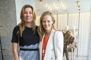 Susan Dunlevy and Katie Traina at the Valentino lunch benefiting the California Pacific Medical Center on April 28, 2015.