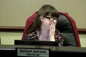 A video uploaded to YouTube shows Georgetown city council members yukking it up while bathroom sounds trick over the council's public announcement system during their April 28 meeting. Mayor Dale Ross had apparently forgotten to turn his mic off while using the restroom.
