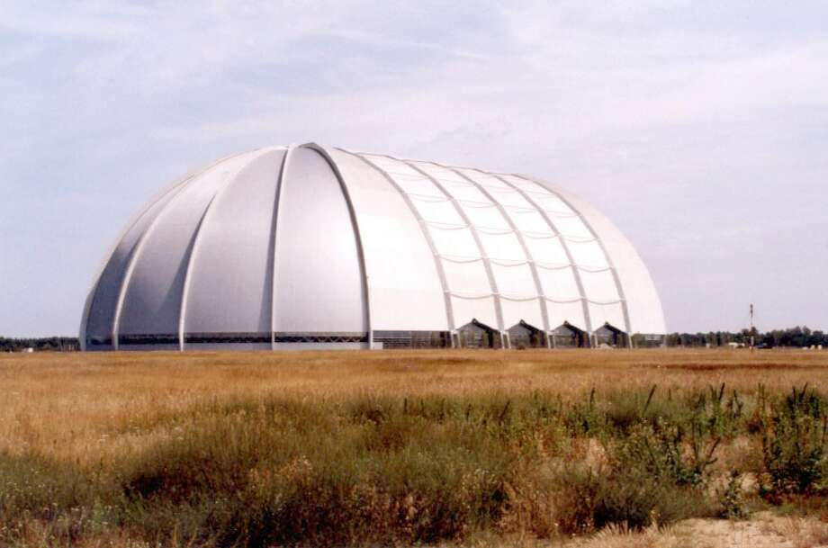 The Aerium, one of the world's largest freestanding structures and a possible role model for the Astrodome: Built as a German blimp hangar, it now houses a tropical rainforest.
