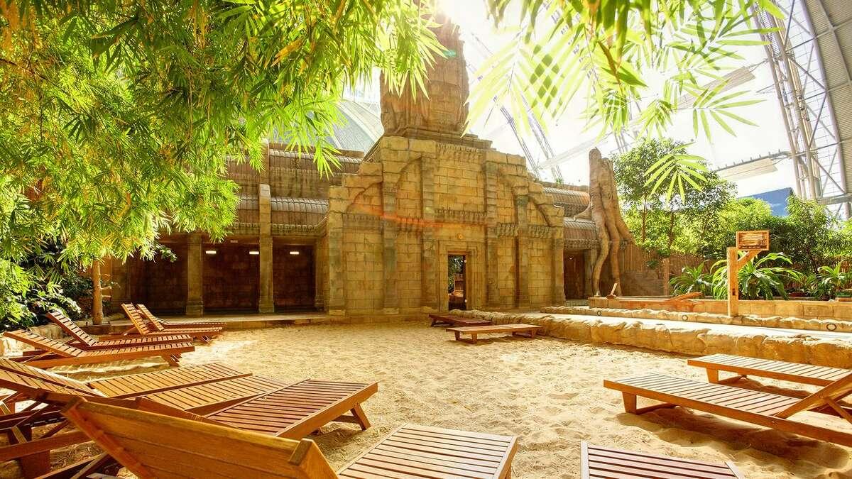 Sunbathing at Tropical Islands Resort.