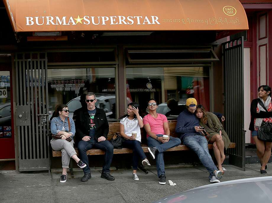 A line waits outside of Burma Superstar before it opens for dinner in San Francisco, California, on Friday, May 1, 2015. Photo: Liz Hafalia, The Chronicle