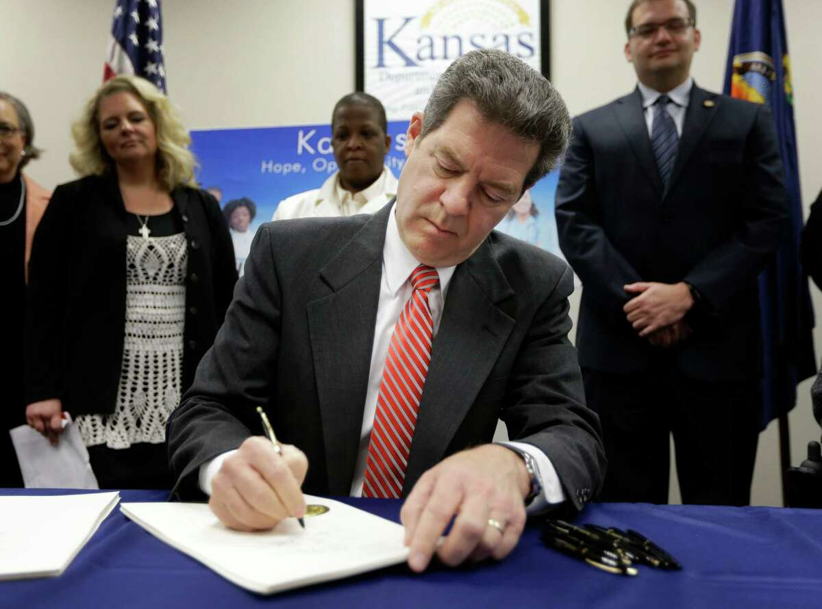 Kansas Gov. Sam Brownback has doubled down on disastrous tax cuts that are damaging the state's schools.