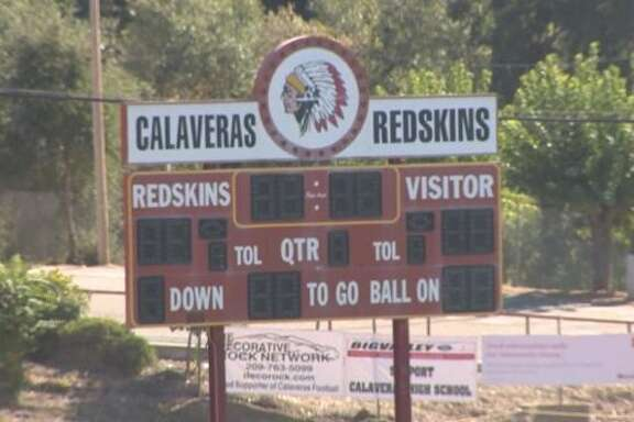 """Calaveras High School in Calaveras County is one of four high schools remaining in California that use """"Redskins"""" as a mascot."""