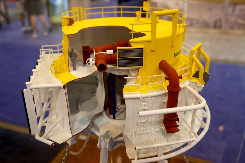 Bluewater Turret Buoy Model At The Offshore Technology